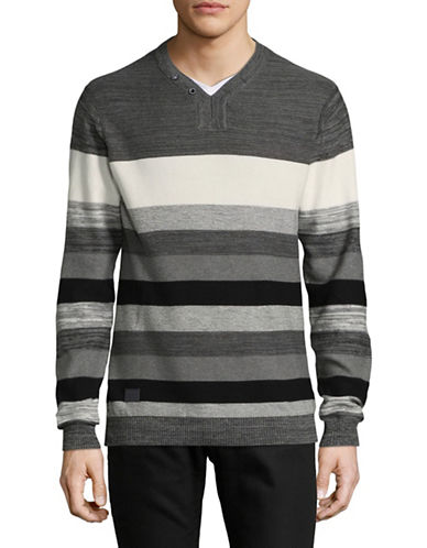 Point Zero Stripe Shirt-GREY-Medium