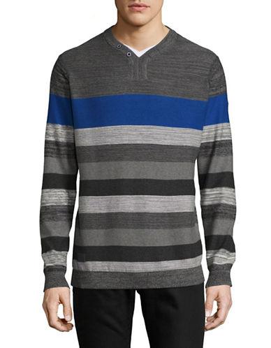 Point Zero Stripe Shirt-BLUE-X-Large