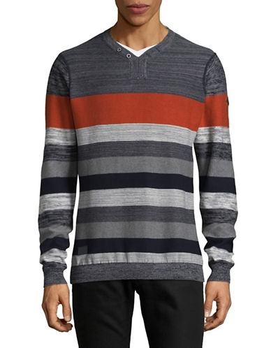 Point Zero Stripe Shirt-RED-X-Large