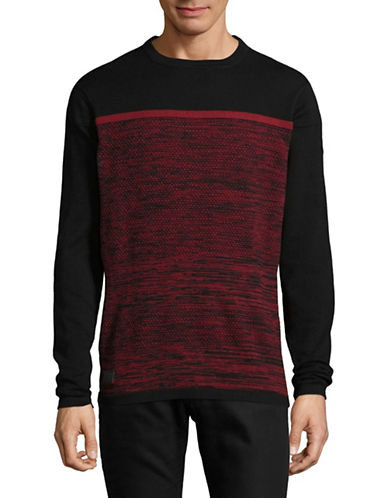 Point Zero Fine Cotton Sweater-RED-Small