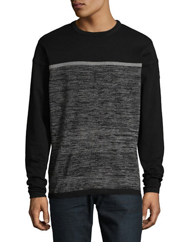 Point Zero Fine Cotton Sweater-BLACK-Medium