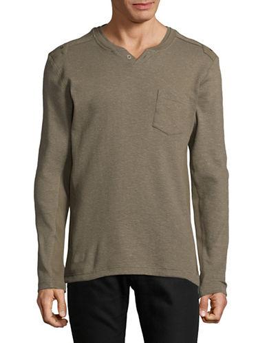 Point Zero Baseball Henley Shirt-GREEN-Large