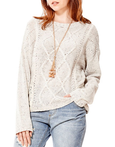 California Moonrise Cable Knit Sweater-WHITE-Medium