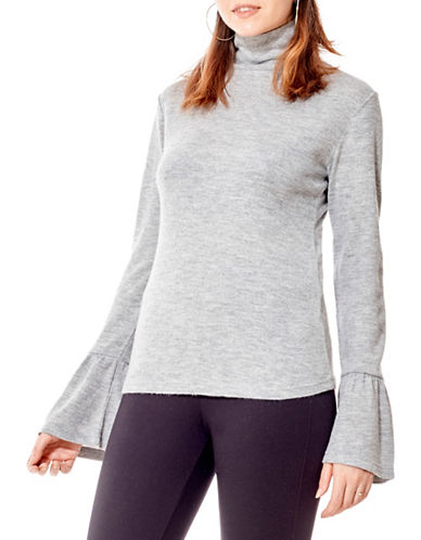 California Moonrise Bell Sleeve Top-GREY-Large