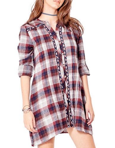 California Moonrise Yarn Dye Plaid Cotton Tunic-MULTI-Large