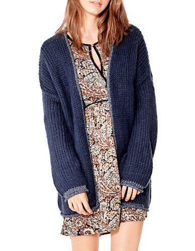 California Moonrise Open Front Cardigan-BLUE-Small
