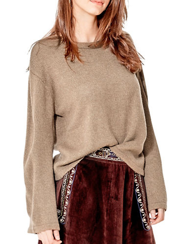 California Moonrise Flowy Bell Sleeves Sweater-SAND-Medium