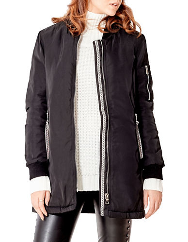 California Moonrise Longline Bomber Jacket-BLACK-Large