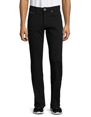 Point Zero Flex Euro-Fit Herringbone Pants-BLACK-32X33