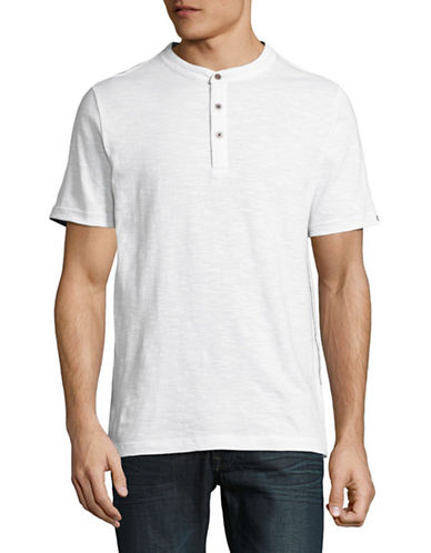 Point Zero Slub Jersey Henley-WHITE-Small