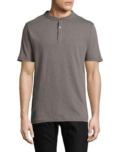 Point Zero Slub Jersey Henley-DARK GREY-X-Large