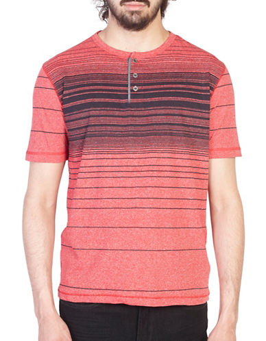 Point Zero Knit Henley-RED-X-Large