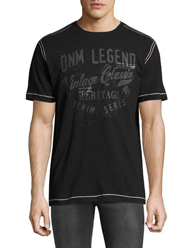 Point Zero Graphic Slub Jersey T-Shirt-BLACK-Medium