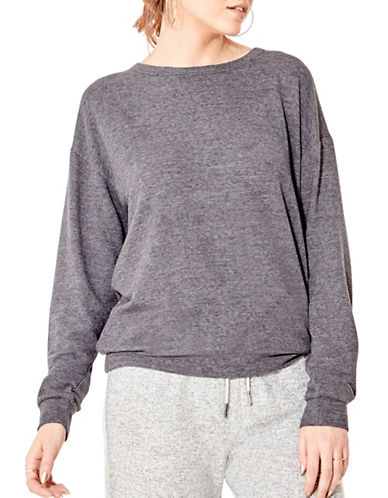 California Moonrise Light Terry Knit Sweatshirt-GREY-Small