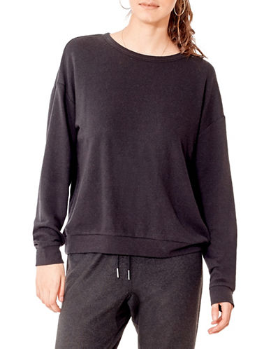 California Moonrise Light Terry Knit Sweatshirt-BLACK-Large