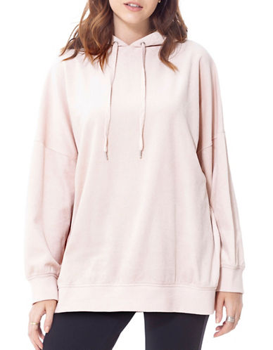 California Moonrise Velvet Knit Oversized Hoodie-PINK-Large