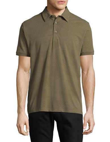 Point Zero Printed Stretch-Jersey Polo-GREEN-Large