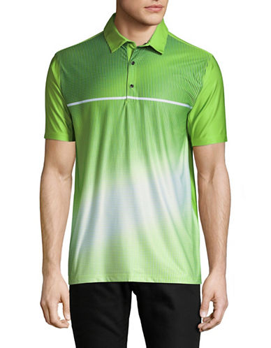 Point Zero PZMoition Printed Stretch Polo-GREEN-X-Large