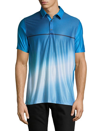 Point Zero PZMoition Printed Stretch Polo-BLUE-Small