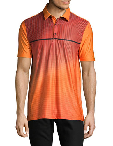 Point Zero PZMoition Printed Stretch Polo-ORANGE-Small