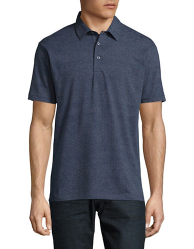 Point Zero Printed Stretch Jersey Polo-BLUE-X-Large