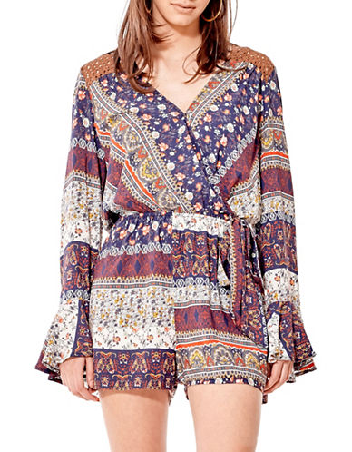 California Moonrise Crisscross Romper-MULTI-Medium