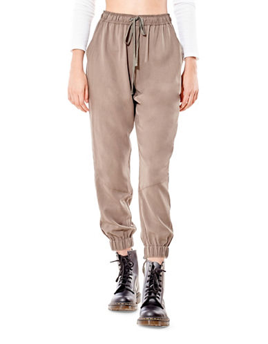 California Moonrise Lace-Up Back Joggers-BEIGE-Medium