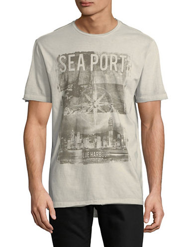 Point Zero Short-Sleeve Cotton Tee-SILVER-Medium