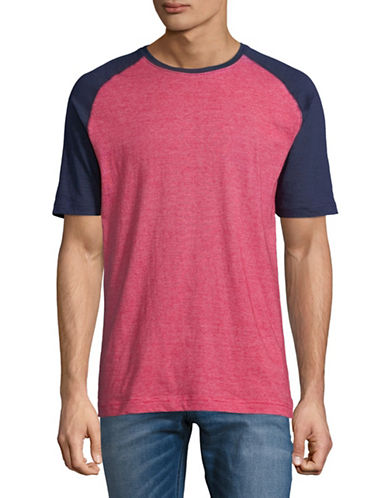 Point Zero Textured Jersey Tee-RED-Small
