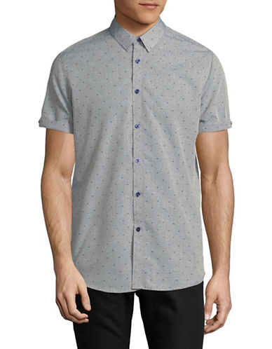 Point Zero Short-Sleeve Printed Sportshirt-SILVER-Large