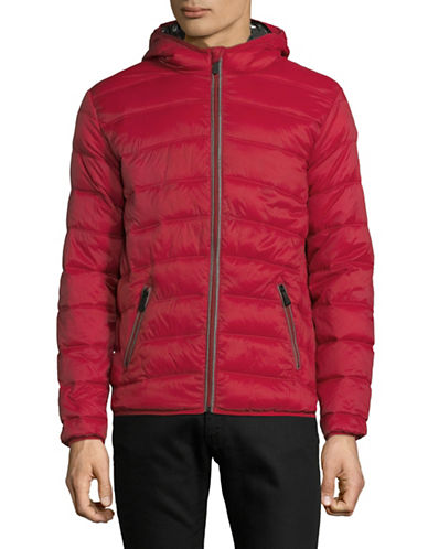 Point Zero Quilted Lightweight Jacket-RED-Small