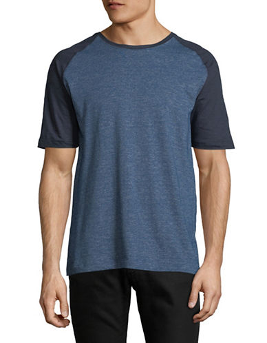 Point Zero Textured Jersey Tee-BLUE-X-Large