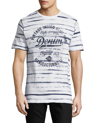 Point Zero Striped Short-Sleeve Cotton Tee-WHITE-Small