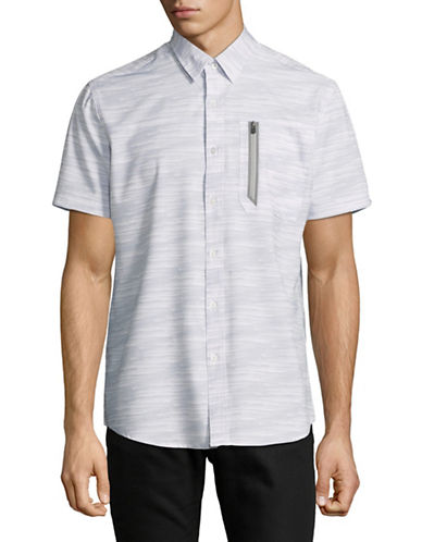 Point Zero Four-Way-Stretch Sport Shirt-WHITE-Medium