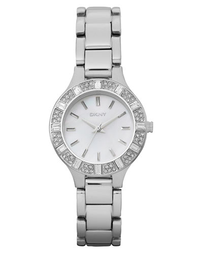 Dkny Silver Stainless Steel Watch-SILVER-One Size