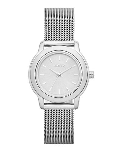Dkny Stainless Steel Mesh Analog Watch-SILVER-One Size
