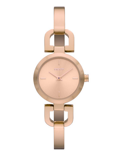 Dkny Rose Gold Plated Stainless Steel Bangle Watch-ROSE GOLD-One Size