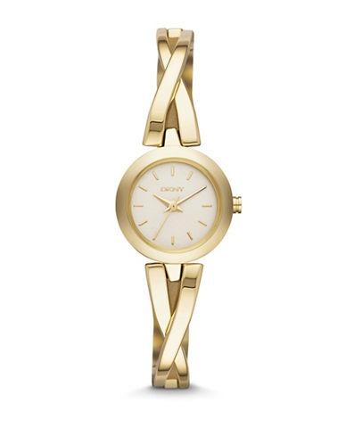 Dkny Goldtone Bracelet Watch-GOLD-One Size