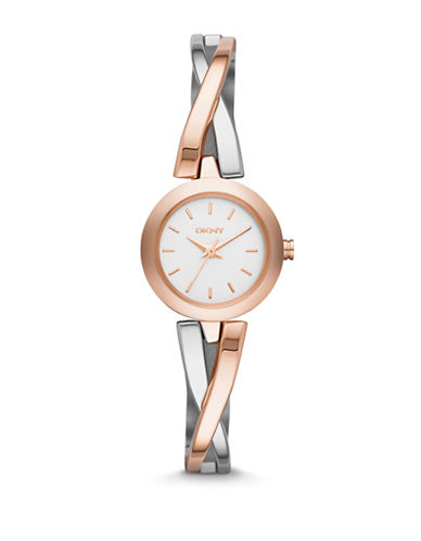 Dkny DKNY Silver and Rose Gold Watch-TWO TONE-One Size