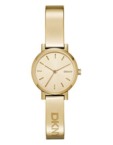 Dkny Womens SOHO Gold-tone Half-Bangle Watch NY2307-GOLD-One Size