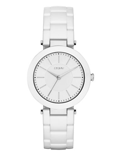 Dkny Womens Stanhope White Ceramic Watch NY2291-WHITE-One Size