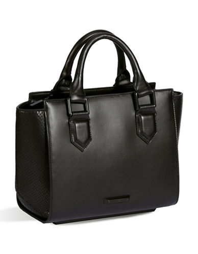 Kendall + Kylie Brook Leather Satchel-BLACK-One Size