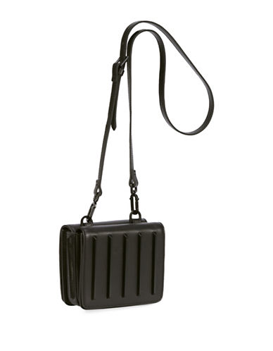 Kendall + Kylie Baxter Leather Crossbody Bag-BLACK-One Size