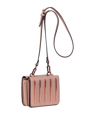 Kendall + Kylie Baxter Leather Crossbody Bag-PINK-One Size
