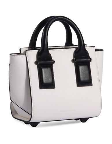 Kendall + Kylie Katherine Mini Leather Satchel-WHITE-One Size