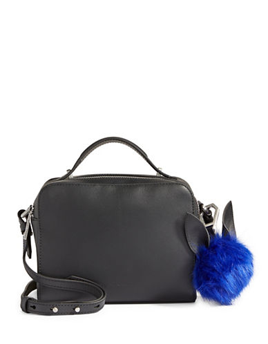 Kendall + Kylie Lucy Leather Crossbody Bag-BLACK-One Size