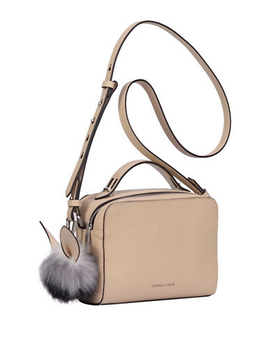 Kendall + Kylie Lucy Leather Crossbody Bag-CREAM-One Size