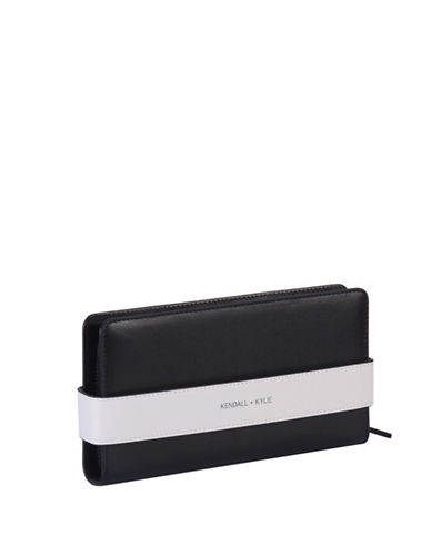Kendall + Kylie Rosie Black Leather Wallet-BLACK-One Size