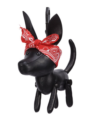 Kendall + Kylie Sophie Leather Dog Charm-BLACK-One Size
