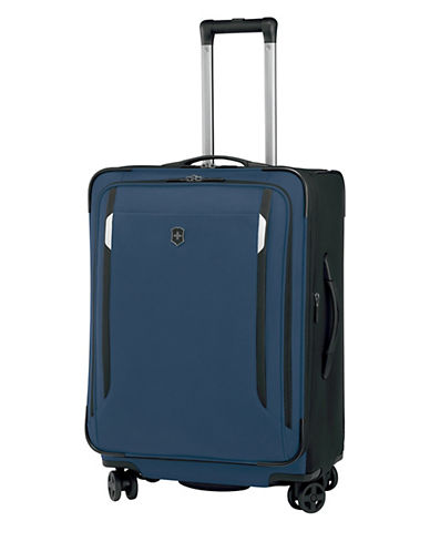 Victorinox Werks Traveller 24 Inch Dual Caster Suitcase-NAVY BLUE-24